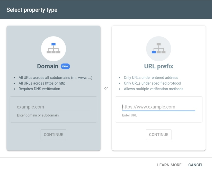 property verify on google